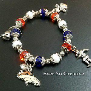 Jewelry - Denver Bronco Charm Bracelet